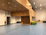 Ausstellungen, Philosophieren und Forschen, Pausen-Aufenthalt - die blaue Halle