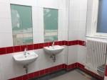 Der Waschbereich (noch ohne Spiegel)
